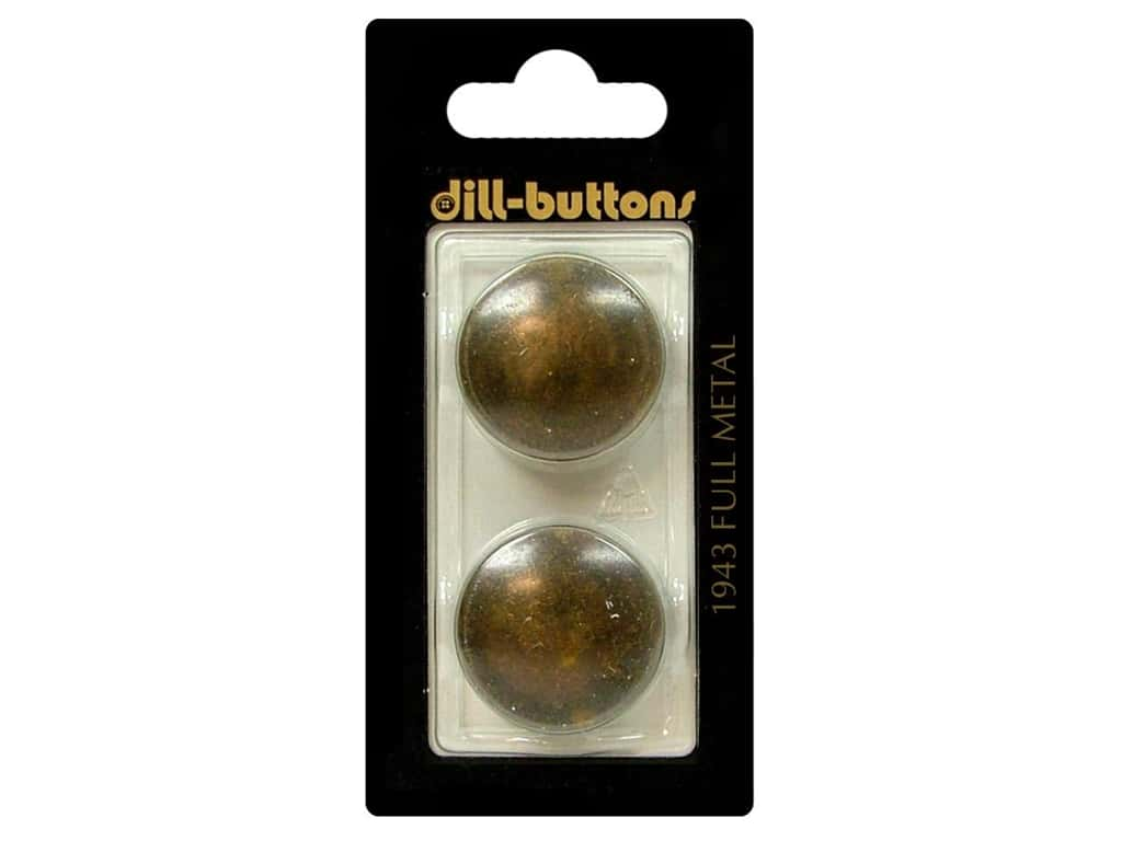 Dill Shank Buttons 7/8 in. Antique Brass Metal #1943 2pc.