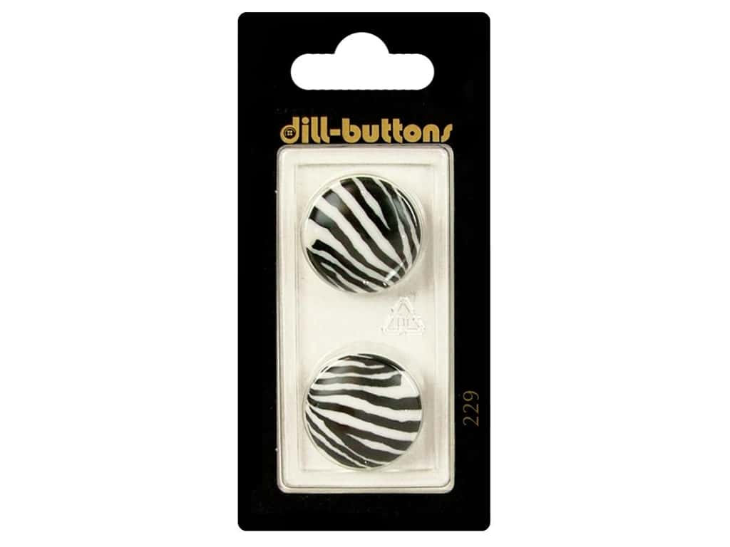 Dill Shank Buttons 13/16 in. White/Black #229 2 pc.