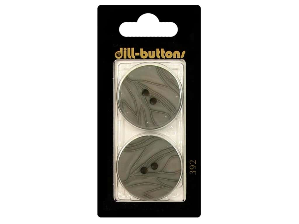 Dill 2 Hole Buttons 1 1/8 in. Grey #392 2 pc.