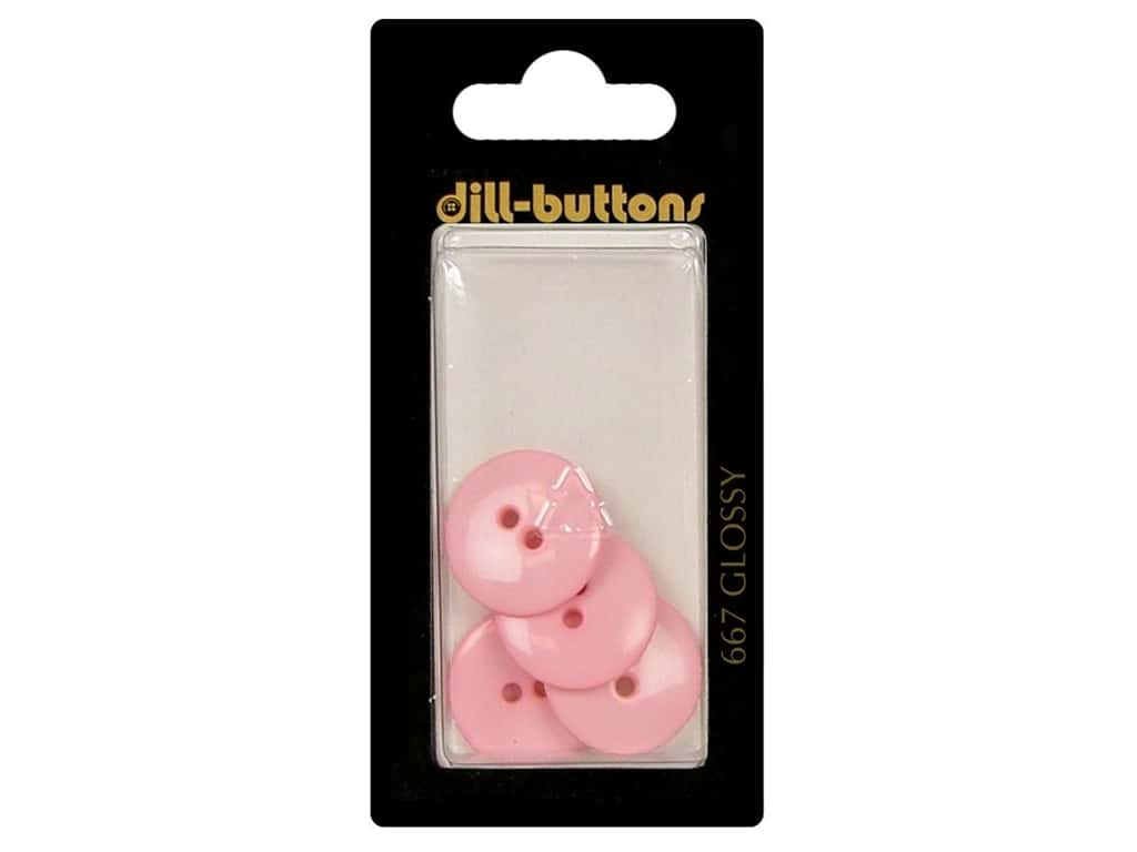 Dill 2 Hole Buttons 11/16 in. Pink #667 4 pc.
