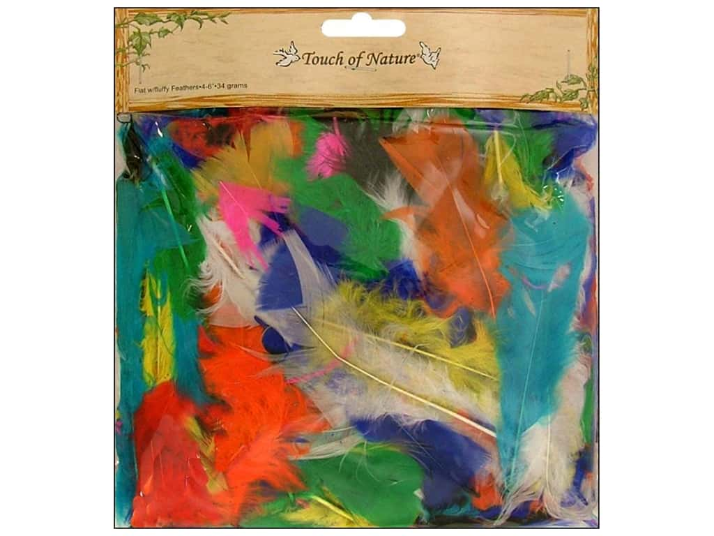 Midwest Design Turkey Flat Feathers 34 gm. 4 - 6 in. Assorted Mix