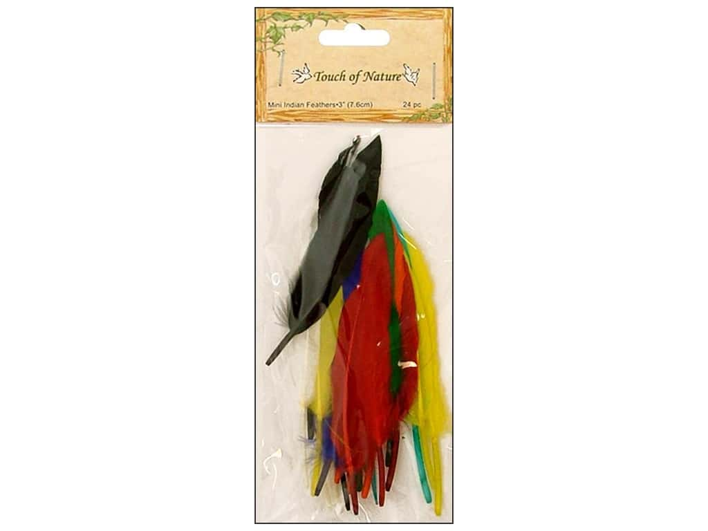 Midwest Design Indian Feather Mini 24 pc. 7 in. Assorted