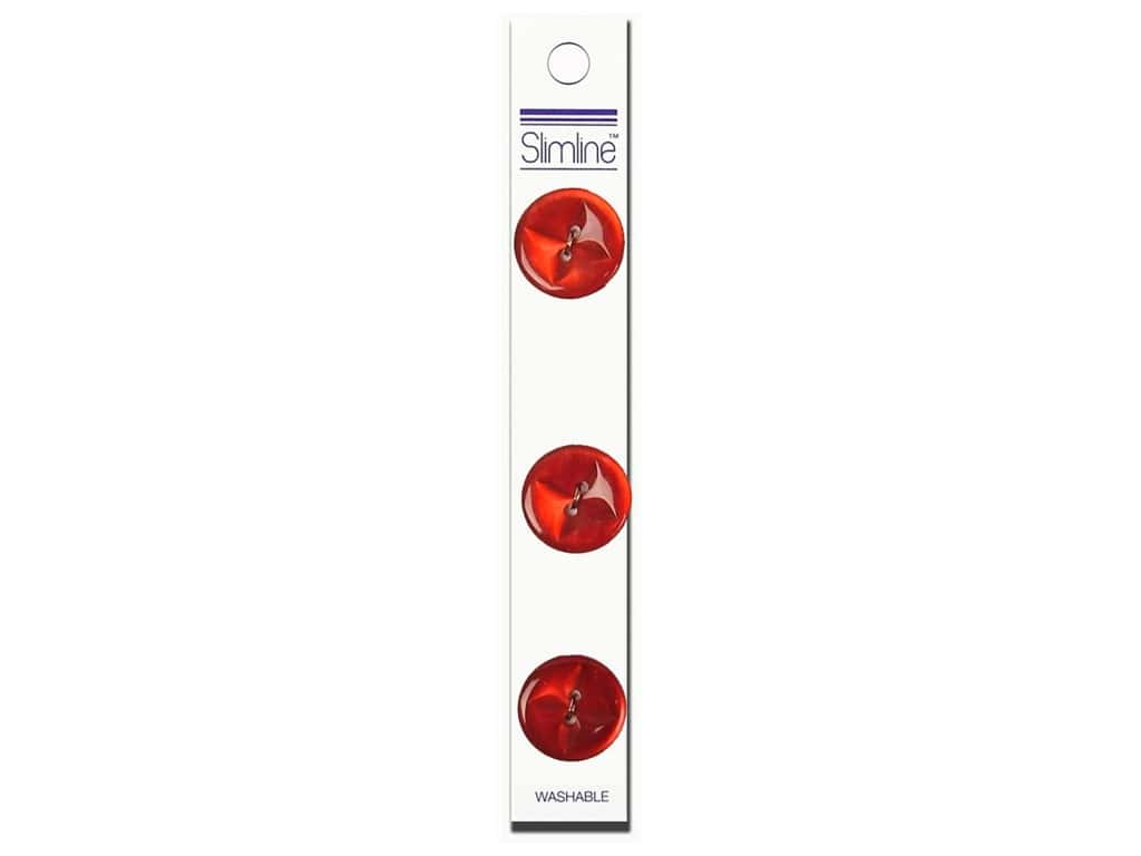 Slimline 2 Hole Buttons 3/4 in. Red 3 pc.