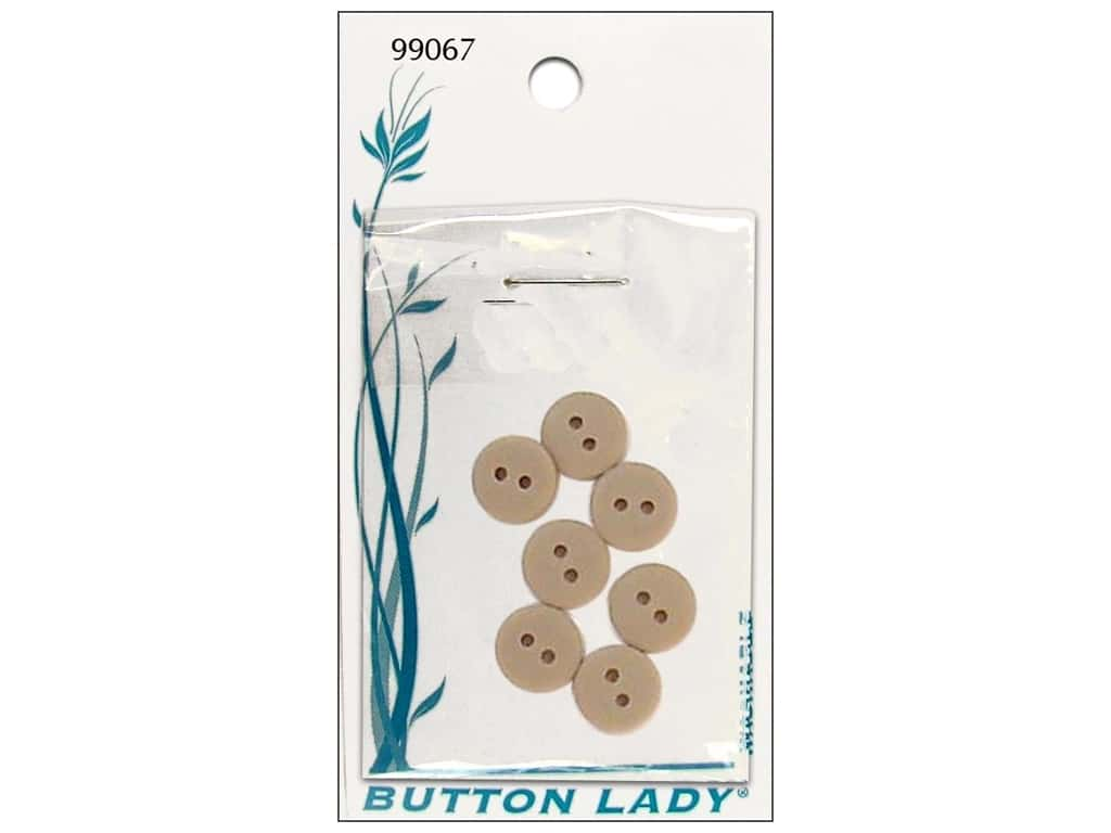 JHB Button Lady Buttons 1/2 in. Beige #99067 7 pc.