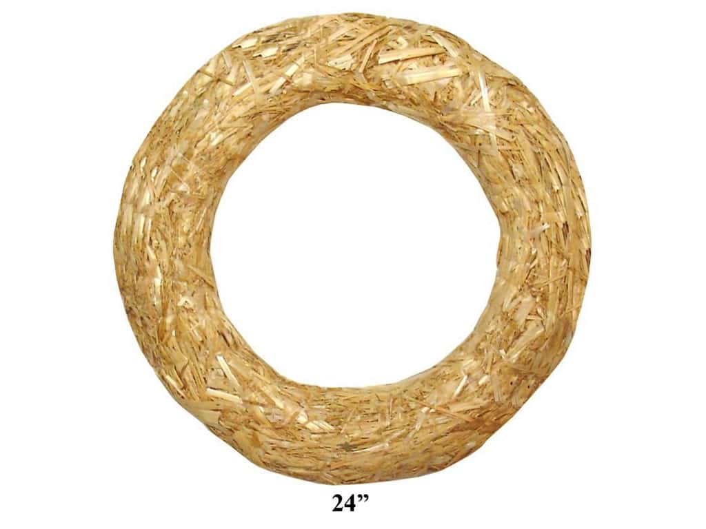 FloraCraft Straw Wreath 24 in. Clear Wrap