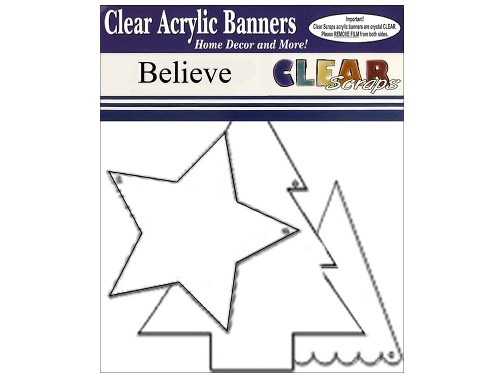 Clear Scraps Clear Banners 7 pc. Believe
