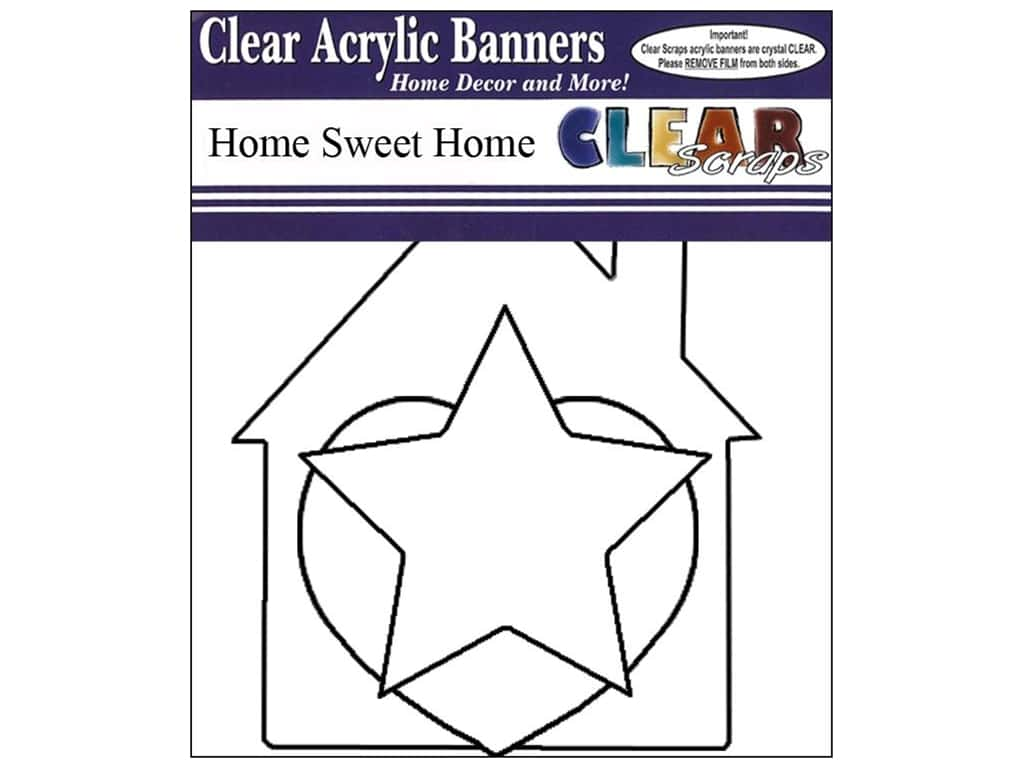 Clear Scraps Clear Banners 7 pc. Home Sweet Home