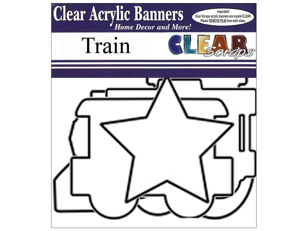 Clear Scraps Clear Banners 7 pc. Train