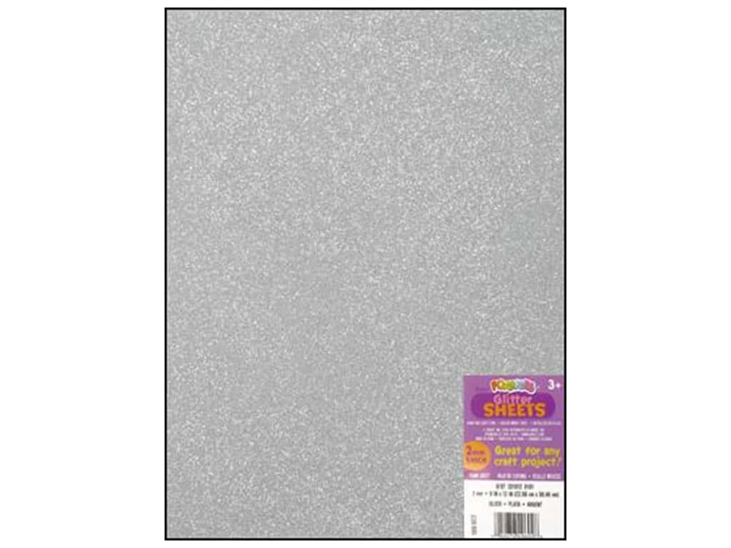 Darice Foamies Foam Sheet 9 x 12 in. 2 mm. Glitter Silver