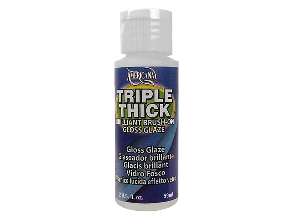 DecoArt Triple Thick Gloss Glaze 2 oz. Brush On