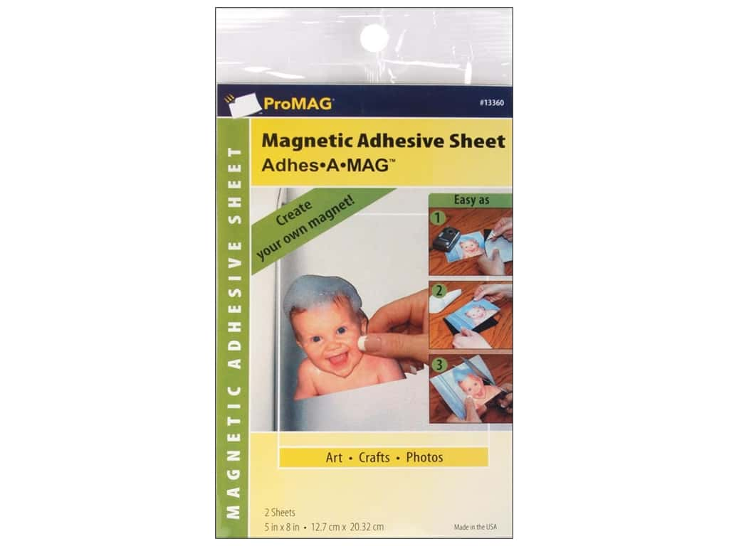 ProMag Magnetic Adhesive Sheet 4 x 6 in. 4 pc.