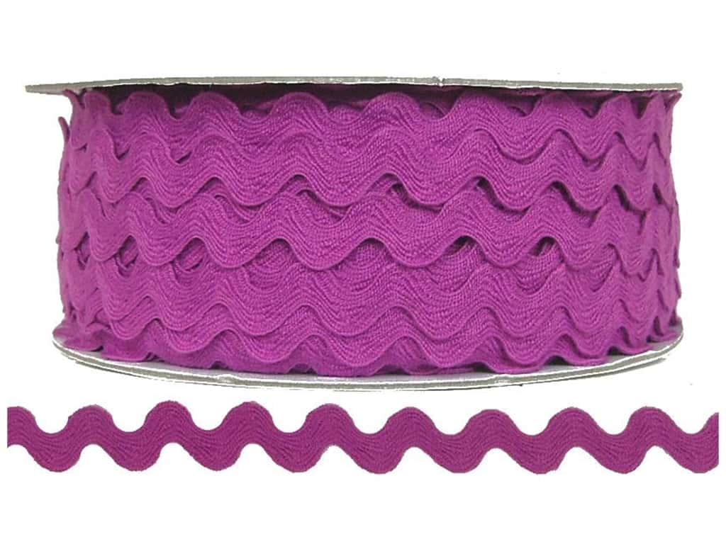 Cheep Trims Ric Rac 1/2 in. Magenta (24 yards)