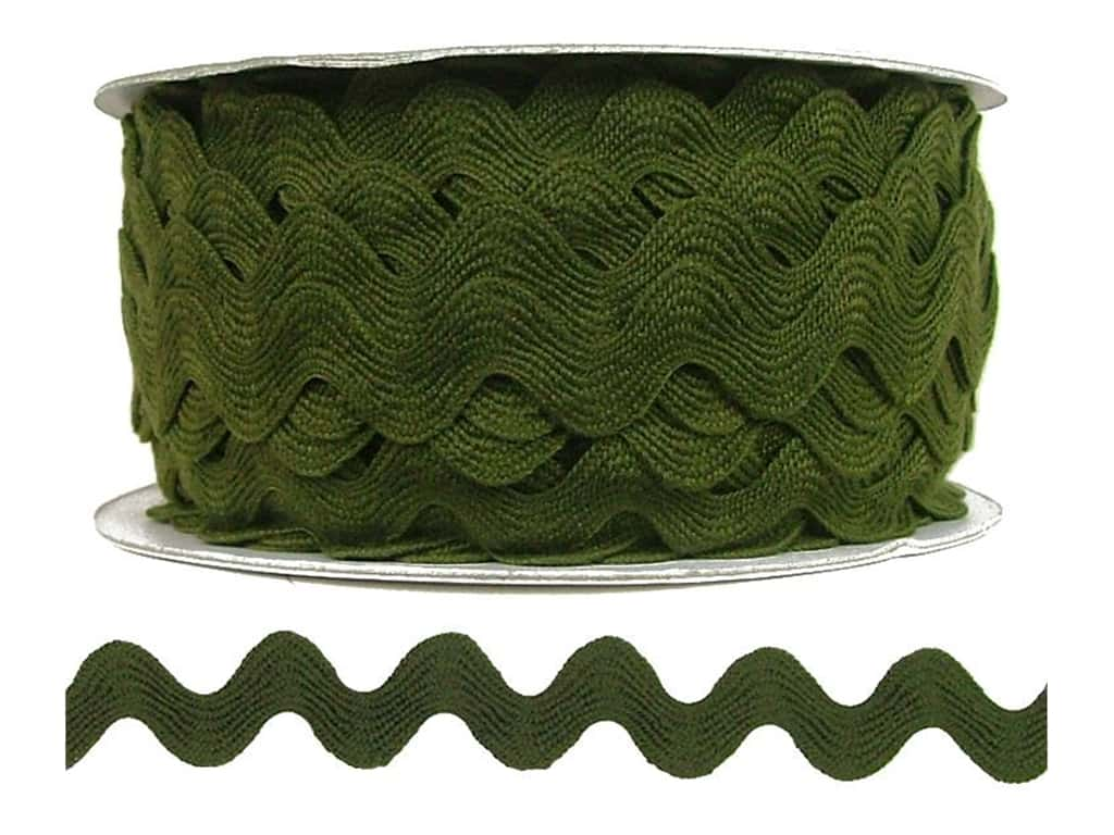 Cheep Trims Ric Rac 11/16 in. Moss (24 yards)