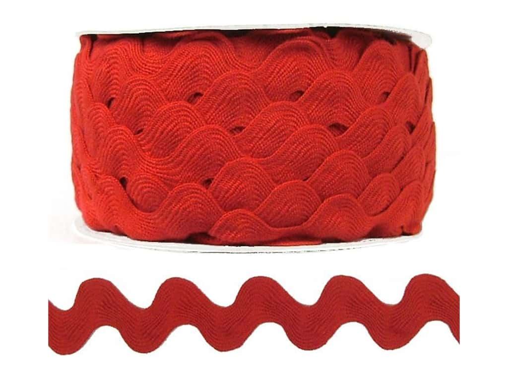 Cheep Trims Ric Rac 1 in. Red (24 yards)