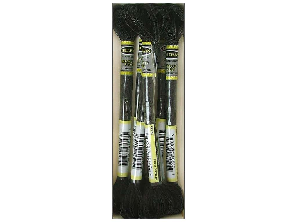 Sullivans Six-Strand Embroidery Floss 8.7 yd. Metallic Black (6 skeins)