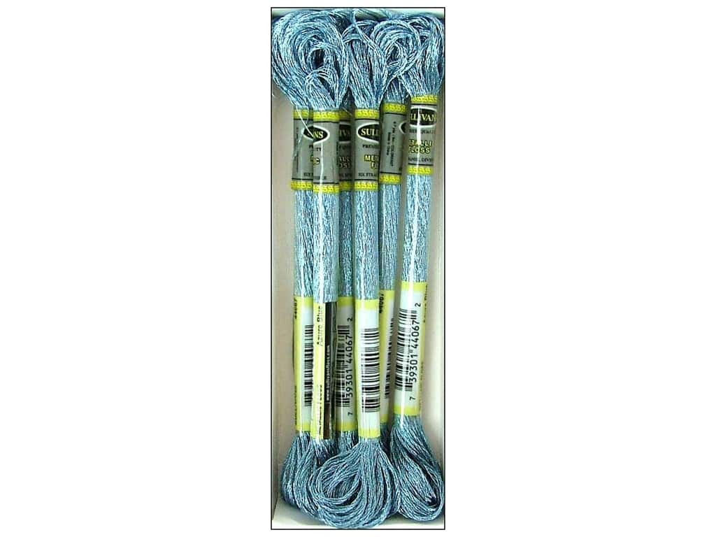 Sullivans Six-Strand Embroidery Floss 8.7 yd. Metallic Azure Blue (6 skeins)