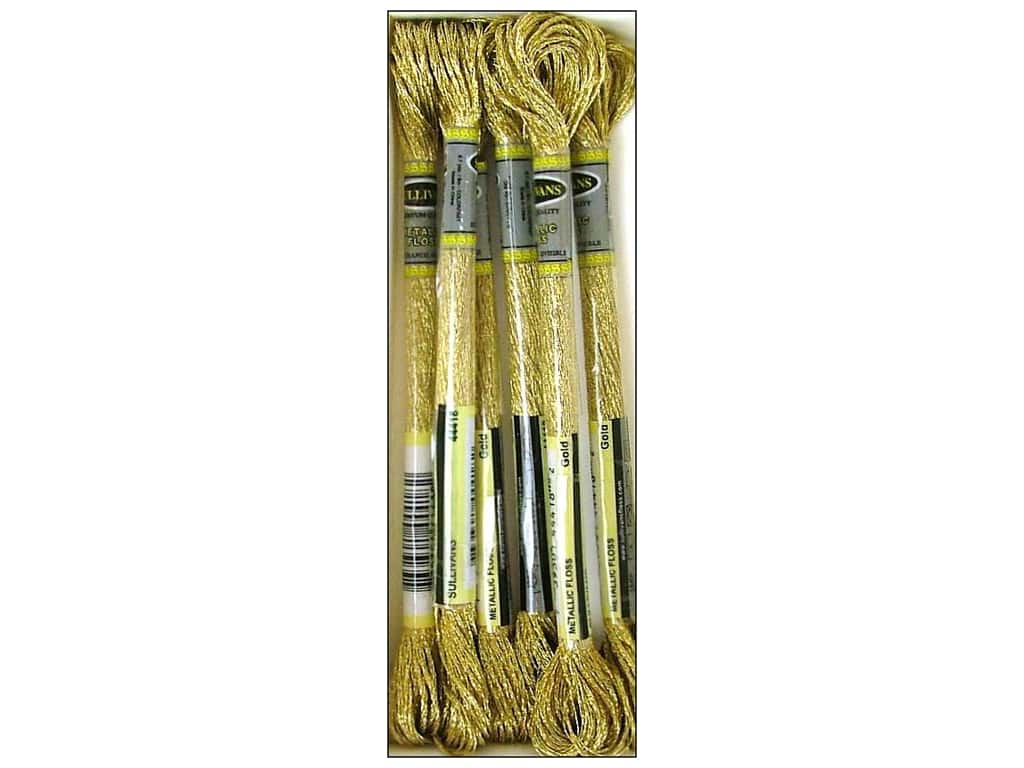 Sullivans Six-Strand Embroidery Floss 8.7 yd. Metallic Gold (6 skeins)