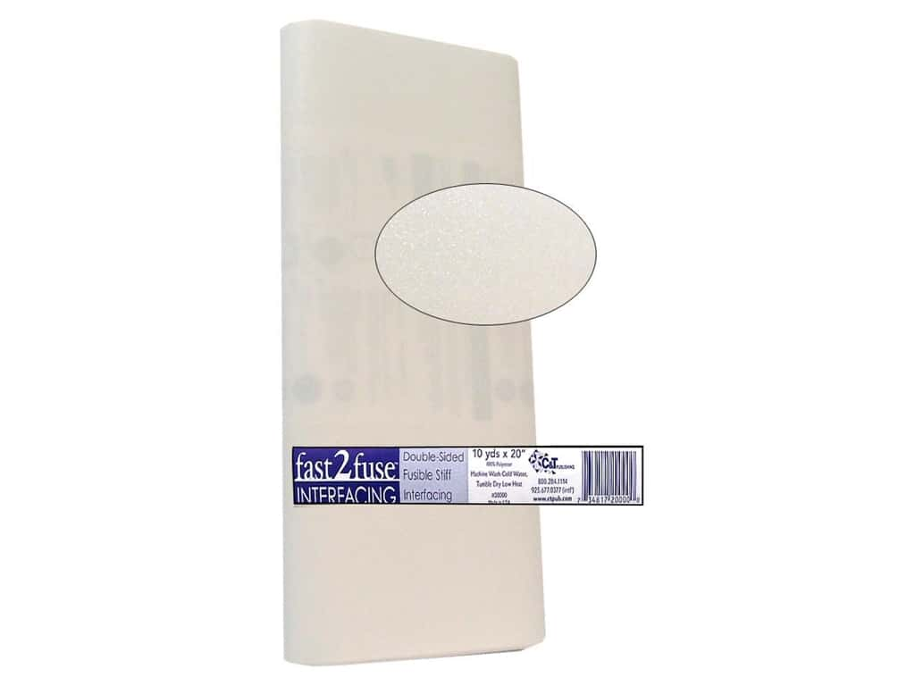C&T Fast2Fuse Interfacing Medium Weight 20 in. x 10 yd. White (10 yards)