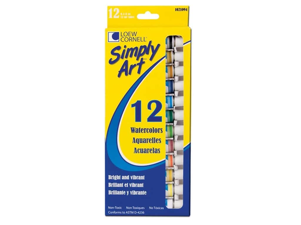 Loew Cornell Simply Art Watercolor Paints 12 pc.