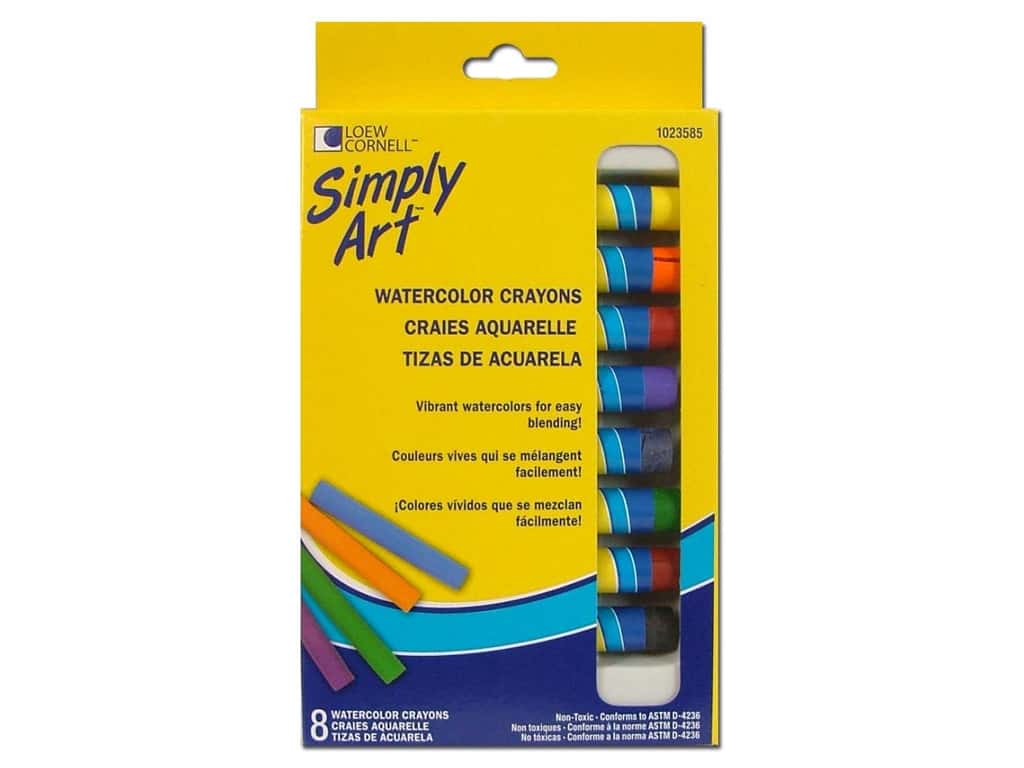Loew Cornell Simply Art Watercolor Crayons 8 pc.
