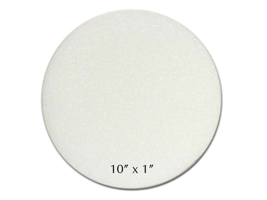 FloraCraft Styrofoam Disc 9 3/4 x 7/8 in. White (24 pieces)