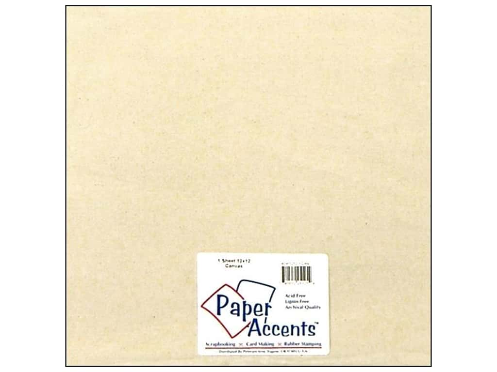 Paper Accents Fabric Sheet 12 x 12 in. Canvas Natural