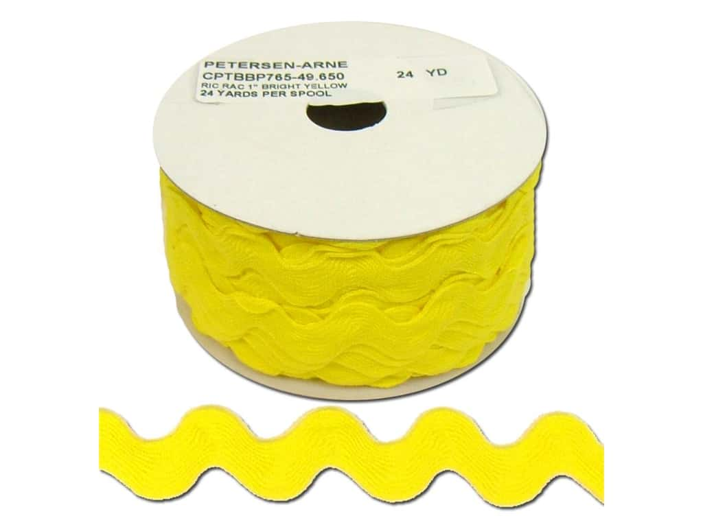 Cheep Trims Ric Rac 1 in. Bright Yellow (24 yards)