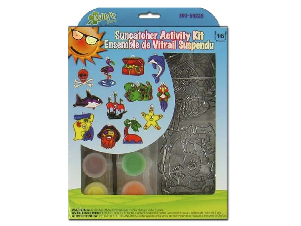 Kelly's Suncatcher Group Activity Kit 12 pc. Pirates
