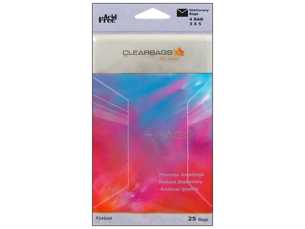 ClearBags Crystal Clear Bag 3 x 5 in. Stationery 25 pc.