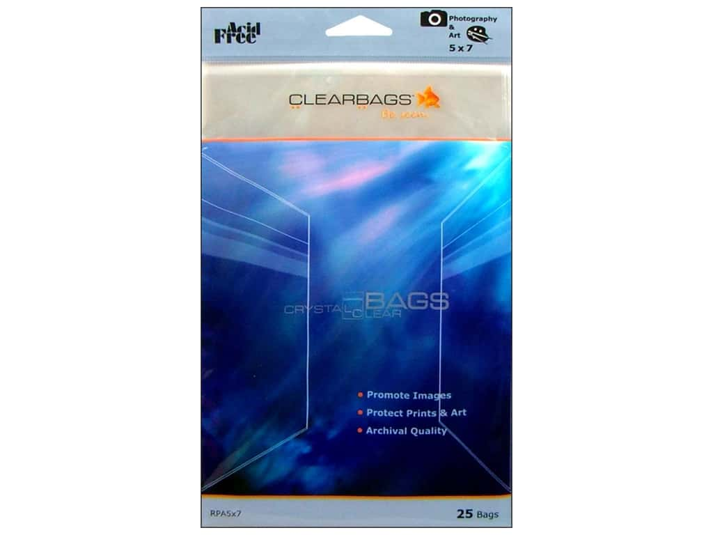 ClearBags Crystal Clear Bag 5 x 7 in. Photo 25 pc.