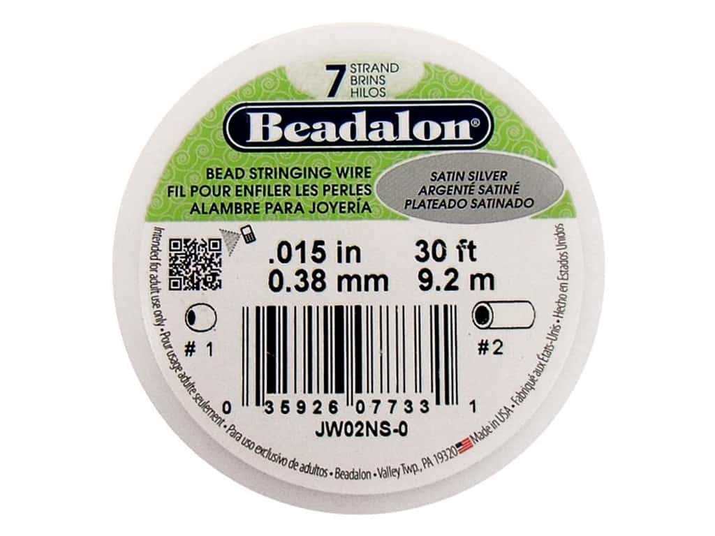 Beadalon Bead Wire 7 Strand .015 in. Satin Silver 30 ft.