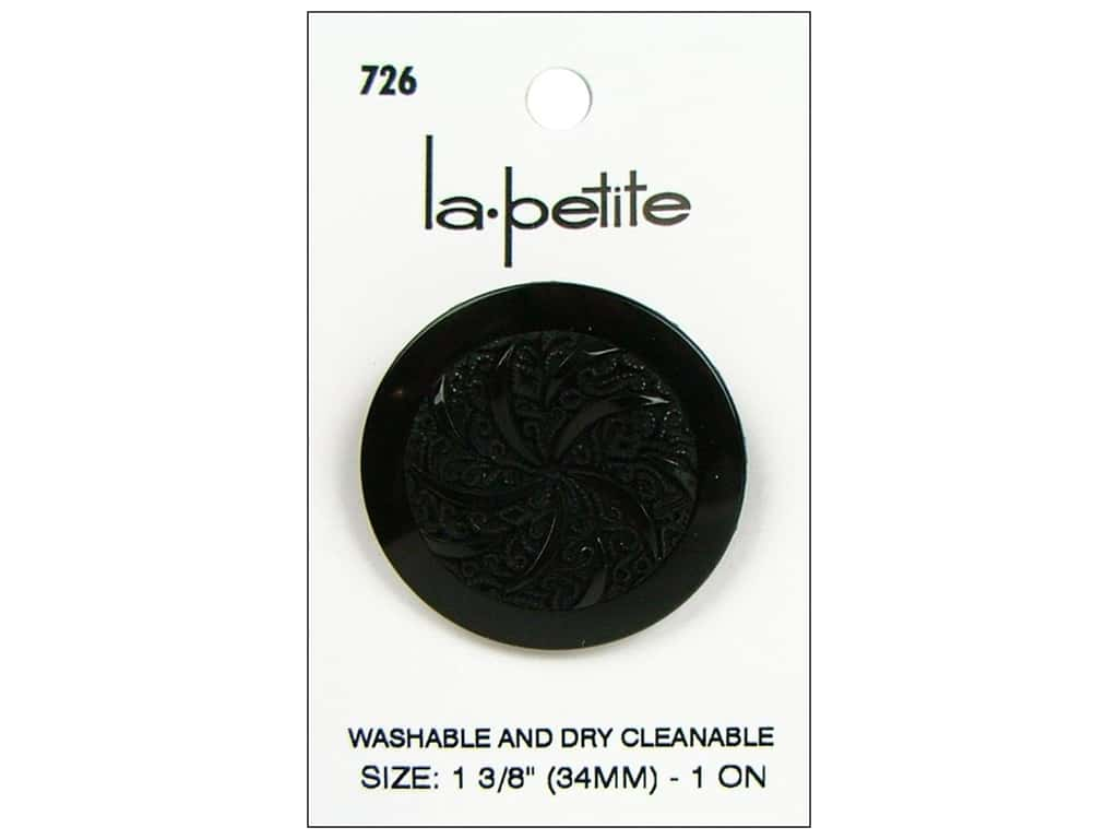 LaPetite Buttons - Shank - 1 3/8 in. Black 1 pc.