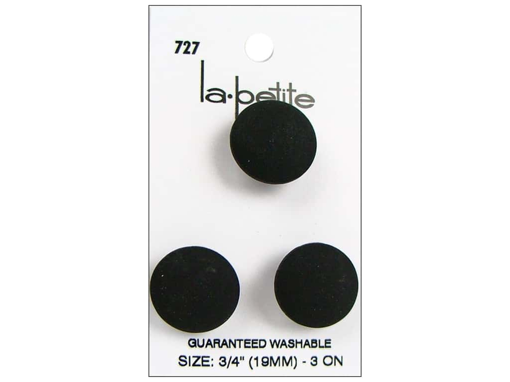 LaPetite Buttons - Shank - 3/4 in. Black 3 pc.