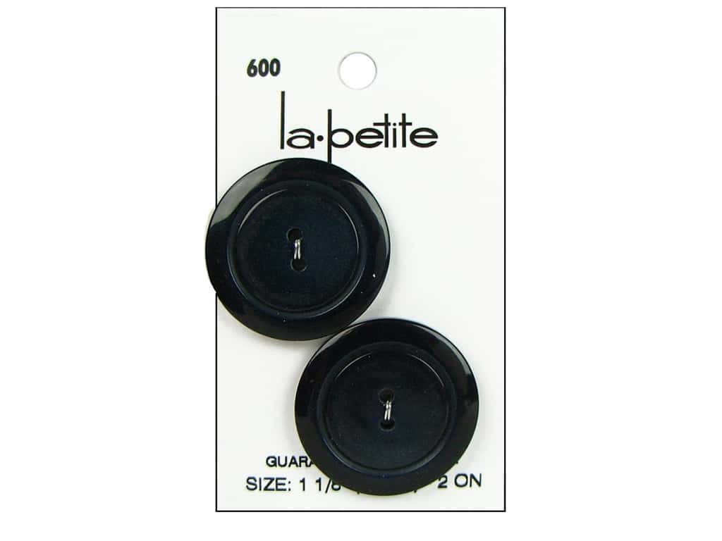 LaPetite 2 Hole Buttons 1 1/8 in. Navy #600 2 pc.