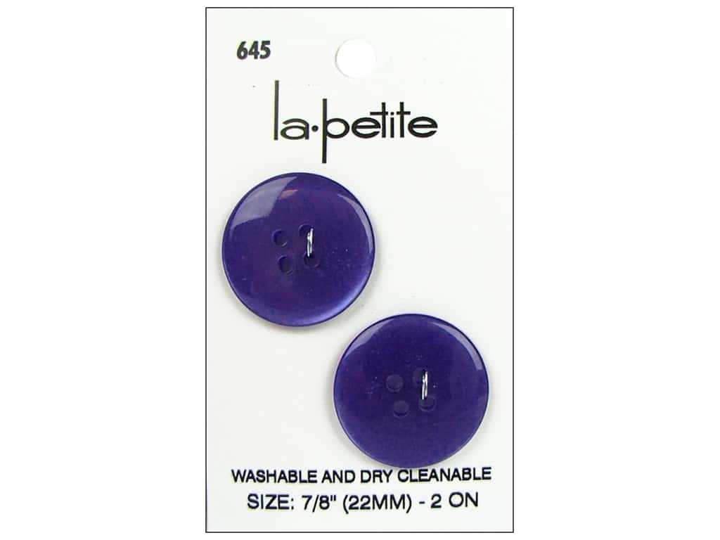 LaPetite 4 Hole Buttons 7/8 in. Purple #645 2pc.