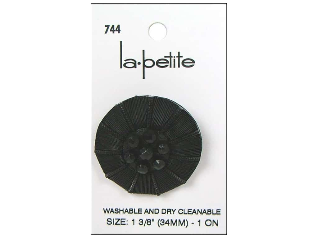 LaPetite Shank Buttons 1 3/8 in. Black #744 1pc.