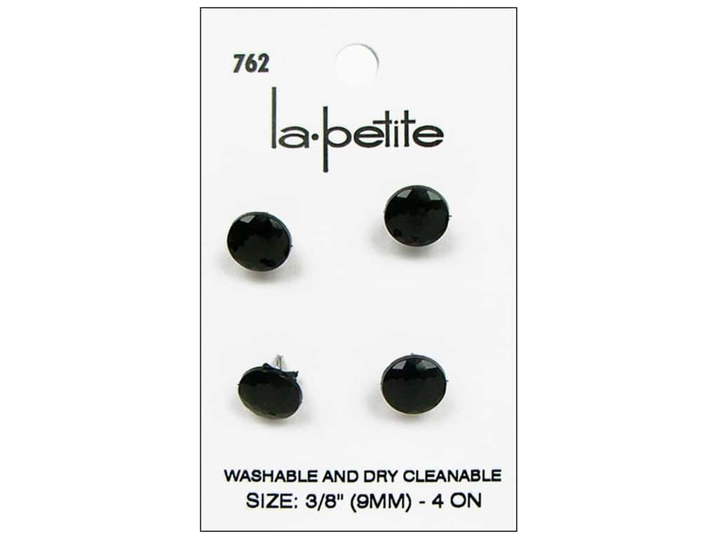LaPetite Buttons - Shank - 3/8 in. Black 4 pc.
