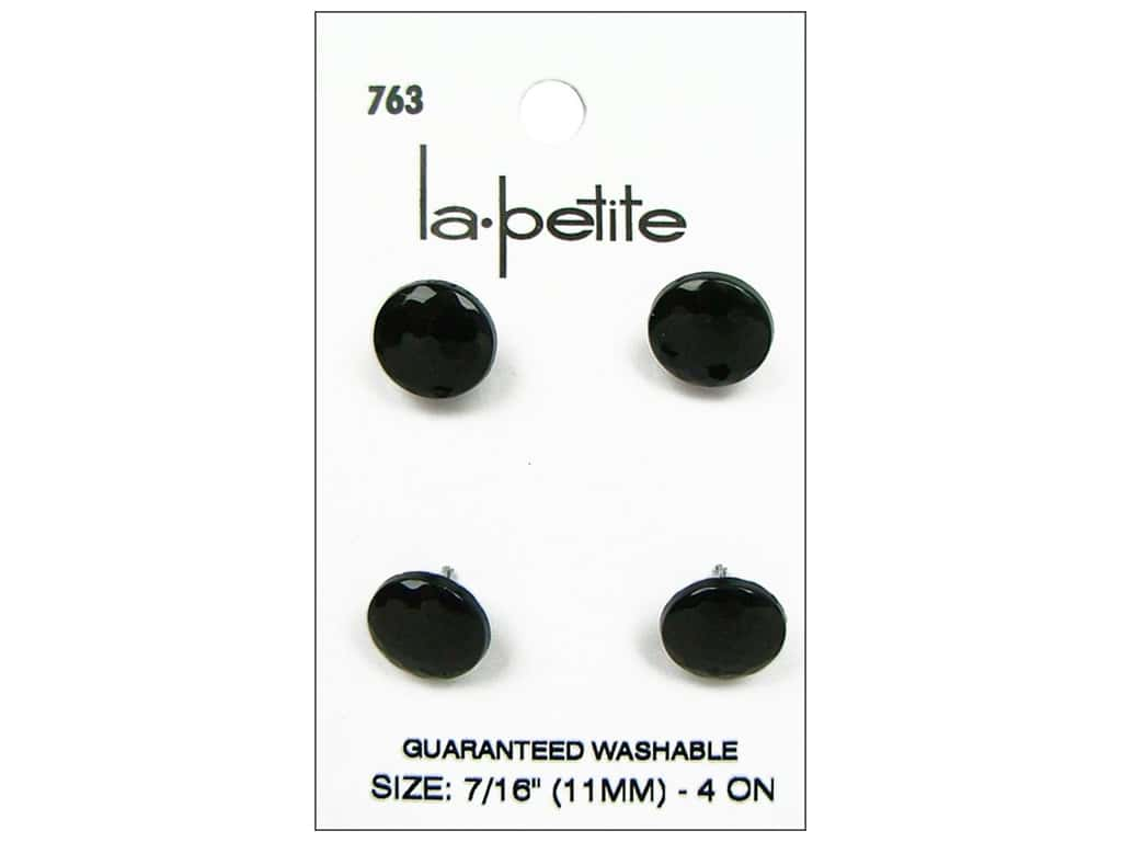 LaPetite Shank Buttons 7/16 in. Black #763 4 pc.