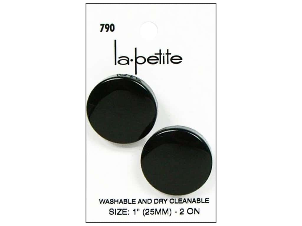 LaPetite Prong Buttons 1 in. Black #790 2 pc.