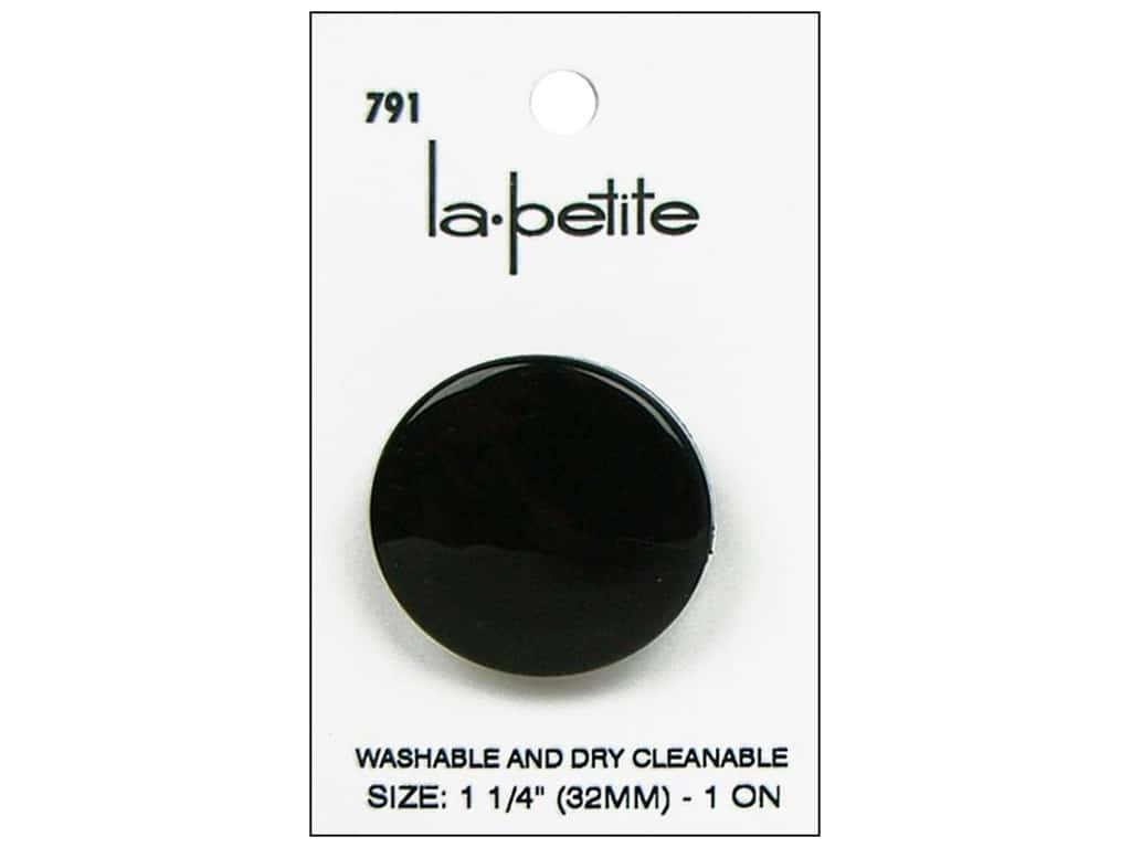 LaPetite Prong Buttons 1 1/4 in. Black #791 1 pc.