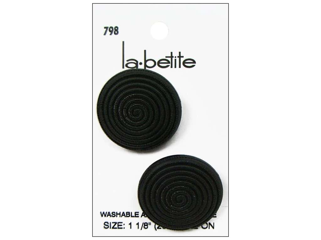 LaPetite Prong Buttons 1 1/8 in. Black #798 2 pc.