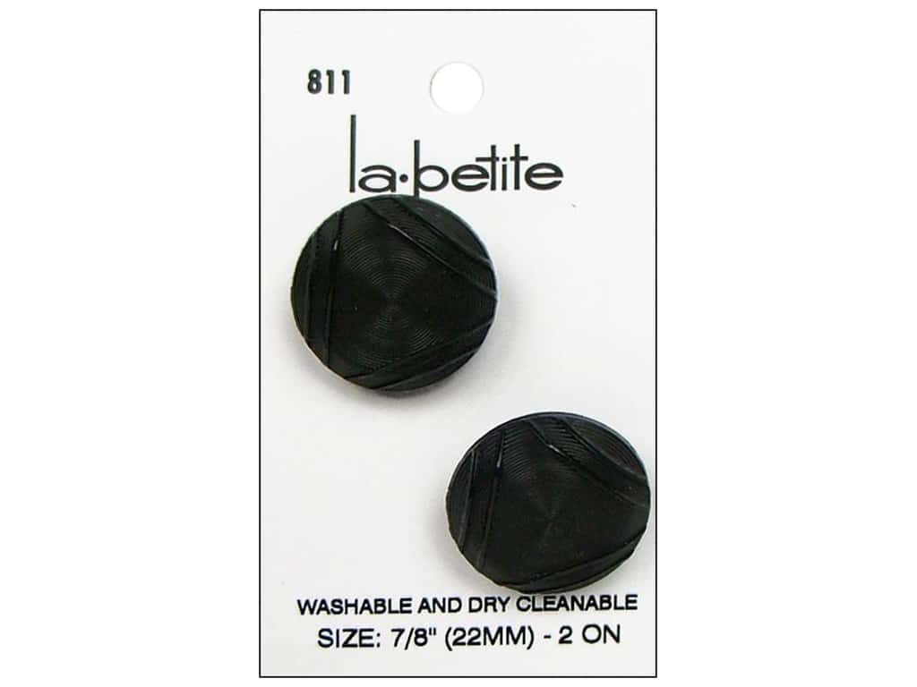 LaPetite Shank Buttons 7/8 in. Black #811 2 pc.