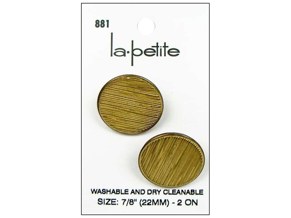 LaPetite Buttons - Shank - 7/8 in. Gold 2 pc.