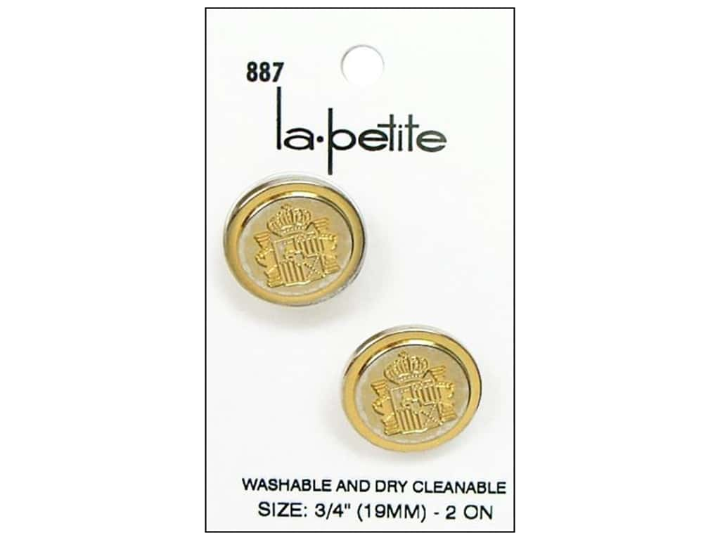 LaPetite Shank Buttons 3/4 in. Gold Blazer #887 2 pc.