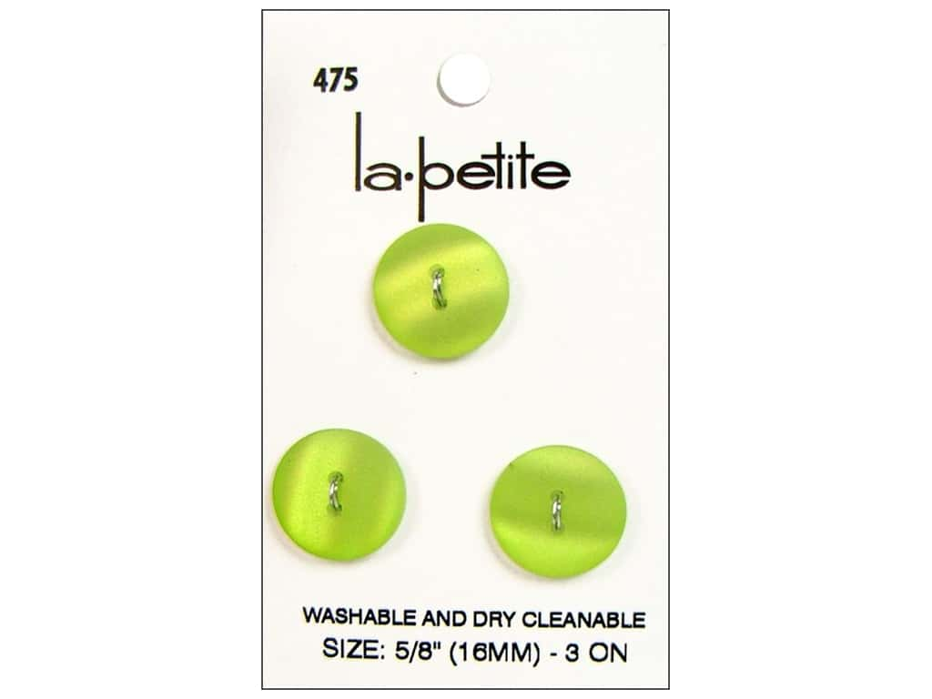 LaPetite 2 Hole Buttons 5/8 in. Lime Green #475 3pc.