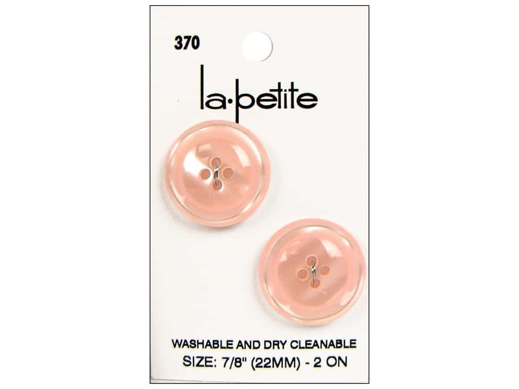 LaPetite 4 Hole Buttons 7/8 in. Pink #370 2pc.