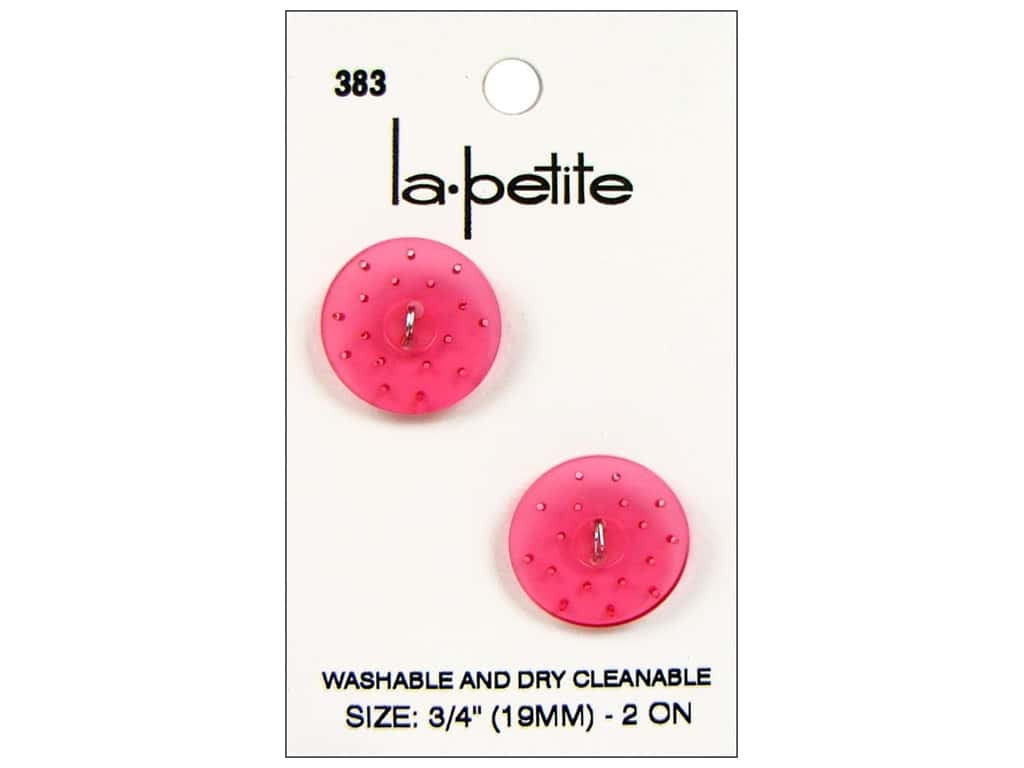 LaPetite 2 Hole Buttons 3/4 in. Pink #383 2 pc.
