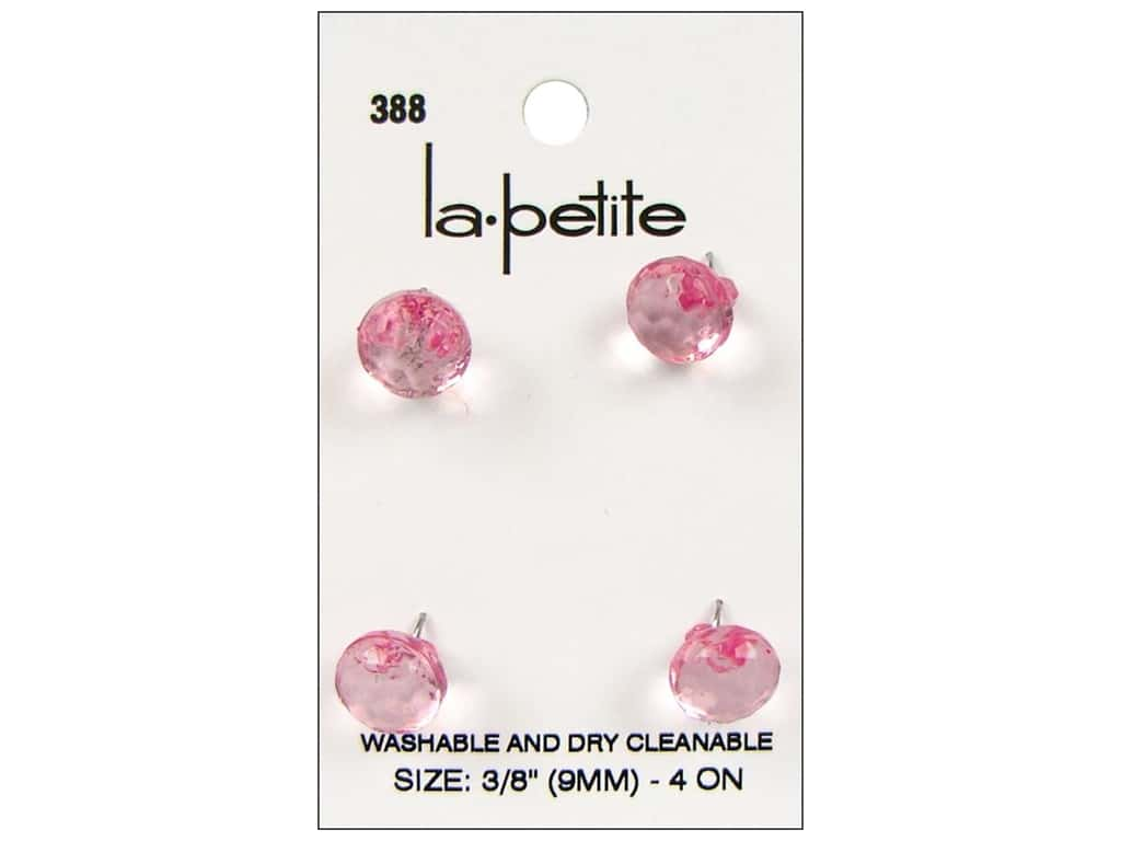 LaPetite Shank Buttons 3/8 in. Pink #388 4pc.