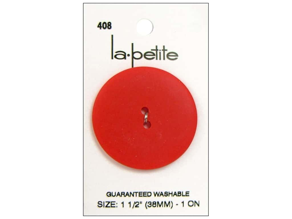 LaPetite 2 Hole Buttons 1 1/2 in. Red #408 1 pc.