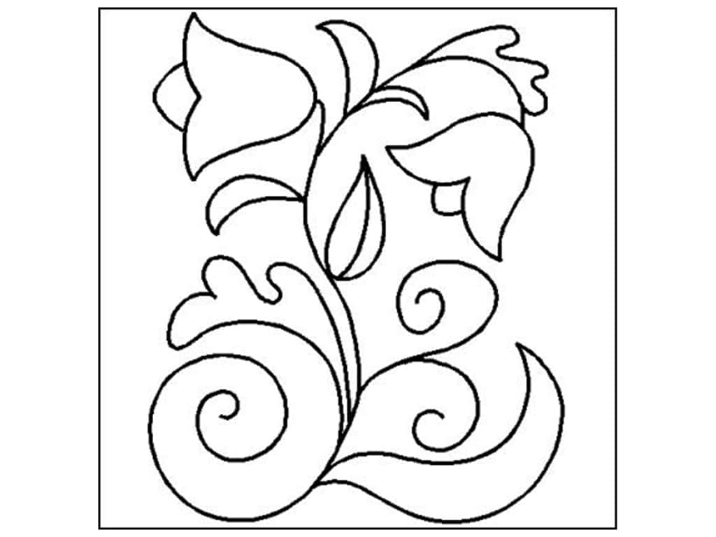 Quilting Creations Stencil Bohemian Flower 8 x 10 in.